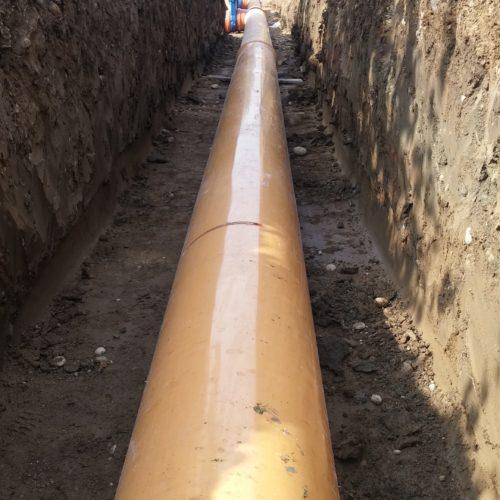 Linea scarico silos di stoccaggio